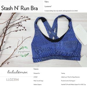 Lululemon - Stash N'Run Bra (Linear Flux ice grey Multi/Black) (LL02394)