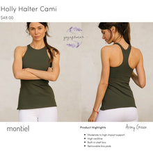 Montiel - Holly Halter Cami (Army green) (MT00104)