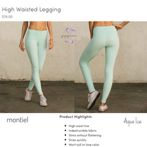 Montiel Legging - High Waisted Legging (Aqua Ice) (MT00106)
