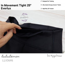 "Lululemon : In Movement Tight 25"" (Black) (LL03646)"