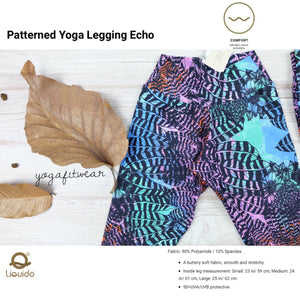 Liquido : Patterned Yoga Legging -Echo (LQ00509)