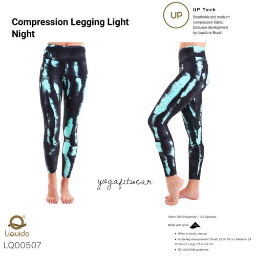 Liquido : Patterned Yoga Legging -Light Night (LQ00507)