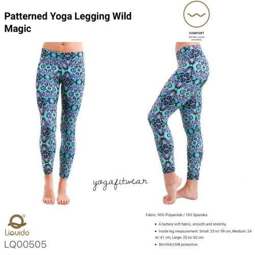 Liquido : Patterned Yoga Legging -Wild Magic (LQ00505)