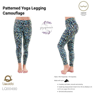 Liquido : Patterned Yoga Legging -Camouflage (LQ00409)