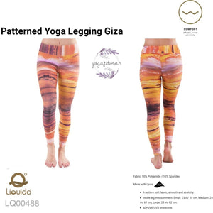 Liquido : Patterned Yoga Legging -Gize (LQ00488)