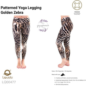 Liquido : Patterned Yoga Legging -Golden Zebra (LQ00477)