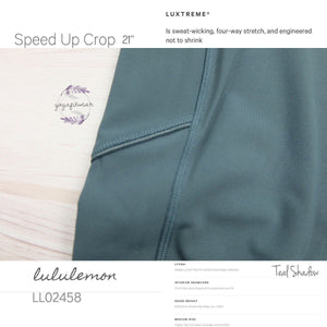 Lululemon - Speed Up Crop (Teal Shadow) (LL02458)
