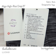"Lululemon : Align High-Rise Crop 21"" (wee are from space dark carbon ice grey) (LL03668)"