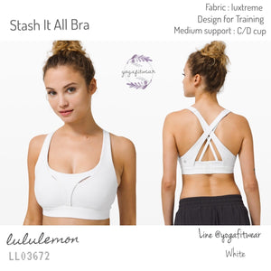 Lululemon : Stash It All Bra (White) (LL03672)