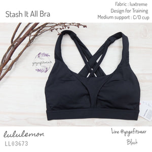 Lululemon : Stash It All Bra (Black) (LL03673)