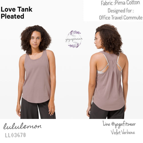 Lululemon : Love Tank*Pleated (Violet Verbena) (LL03678)