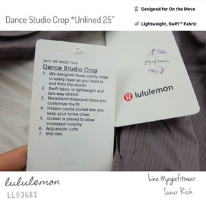 "Lululemon : Dance Studio Crop 25"" *Unlined (Lunar Rock) (LL03681)"