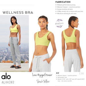 Alo : Wellness Bra (Shock Yellow) (AL00282)