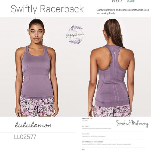 Lululemon -  Swiftly Racerback (Smoke Mulberry) (LL02577)