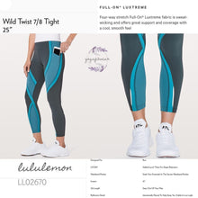 Lululemon - Wild Twist 7/8 Tight (Gravity /Pacific Teal/Teal blue) (LL02670)