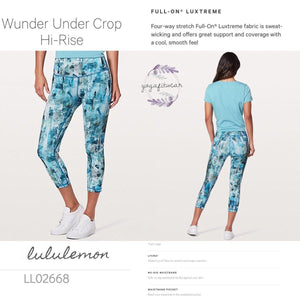 Lululemon - Wunder Under Crop Hi-rise *Full-on Luxtreme (Sun Dazed Multi Blue) (LL02668)