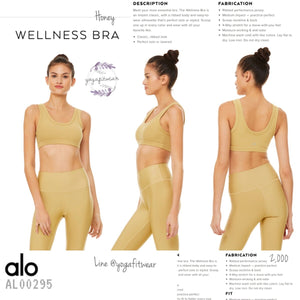 Alo : Wellness Bra (Honey) (AL00295)