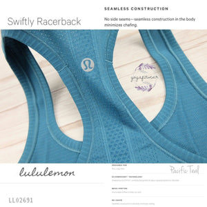 Lululemon - Swiftly Racerback (Pacific Teal) (LL02691)