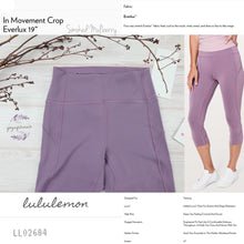 "Lululemon - In Movement Crop*Everlux 19"" (Smoked Mulberry) (LL02684)"