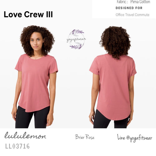 Lululemon : Love CrewIII (Brier Rose) (LL03716)