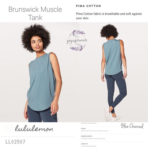 Lululemon - Brunswick Muscle Tank (Blue Charcoal) (LL02507)