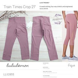 "Lululemon - Train Times Crop 21"" (Figue) (LL02855)"