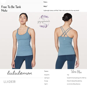 Lululemon - Free to be Tank *Nulu (Slate Blue) (LL02838)