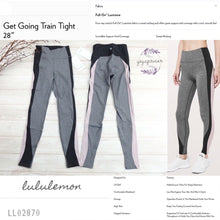 "Lululemon - Get Going Train Tight *28"" (USA) (Heathered Black/black/Smoky blush) (LL02870)"
