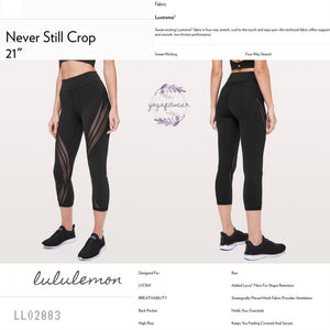 "Lululemon - Never Still Crop* 21"" (USA) (Black) (LL02883)"