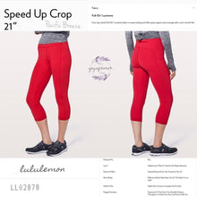Lululemon - Speed Up Crop*21 (Flamenco Red) (LL02878)