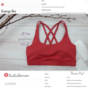 Lululemon - Energy Bra (USA) (Persian Red) (LL02901)