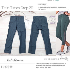 "Lululemon - Train Times Crop*21"" (AU) (Gravity) (LL02890)"