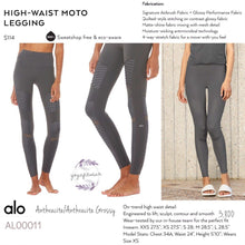 alo : High-Waist Moto Legging (Anthracite /Anthracite Glossy) (AL00011)