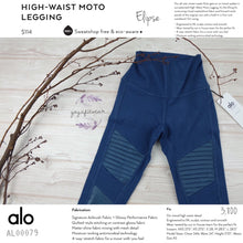 alo : High-Waist Moto Legging (Eclipse /Eclipse Glossy) (AL00079)
