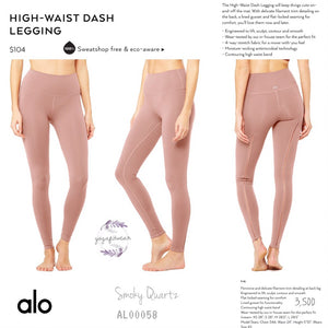 alo : High-Waist Dash Legging (Smoky Quartz) (AL00058)