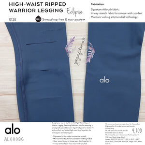 alo : High-Waist Ripped Legging Warrior (Eclipse) (AL00086)