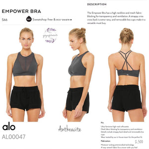 alo : Empower Bra (Anthracite) (AL00047)