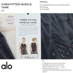 alo : Vixen Fitted Muscle Tank (Anthracite) (AL00026)