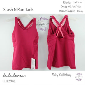 Lululemon - Stash N'Run Tank (Ruby Red/Glossy) (LL02941)