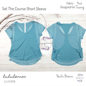 Lululemon - Set The Course Short Sleeve (Pacific Breeze) (LL02948)