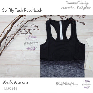 Lululemon - Swiftly Tech Racerback (Black/White/Black) (LL02913)