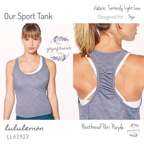 Lululemon - Our Sport Tank (Heathered Peri Purple) (LL02923)