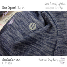Lululemon - Our Sport Tank (Heathered Deep Navy) (LL02925)