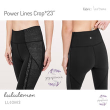"Lululemon - Power Lines Crop*23"" (Black /Meisai black white) (LL03003)"