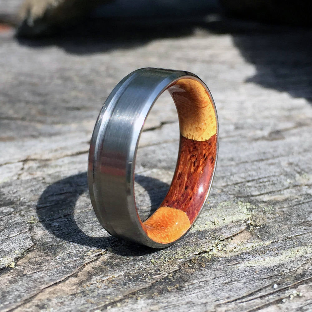 Titanium Ring, Wood Ring, Wood Inlay Ring, Mens Ring, Womens Ring, Wood Wedding Ring, Engagement Ring, Custom Made Ring, Wedding Ring