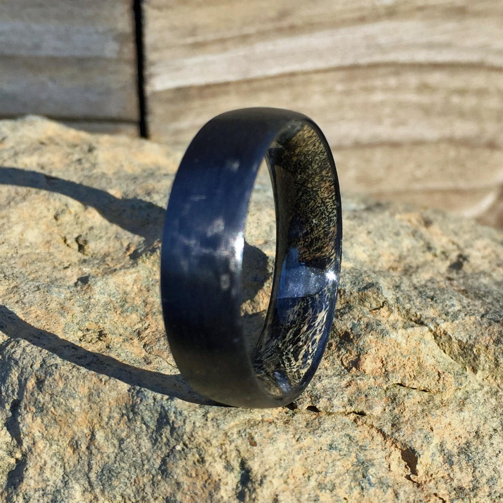 Carbon Fiber Ring, Wood Ring, Wood Inlay Ring, Engagement Ring, Wedding Ring, Wood Wedding Band, Mens Ring, Womens Ring, Cactus Ring