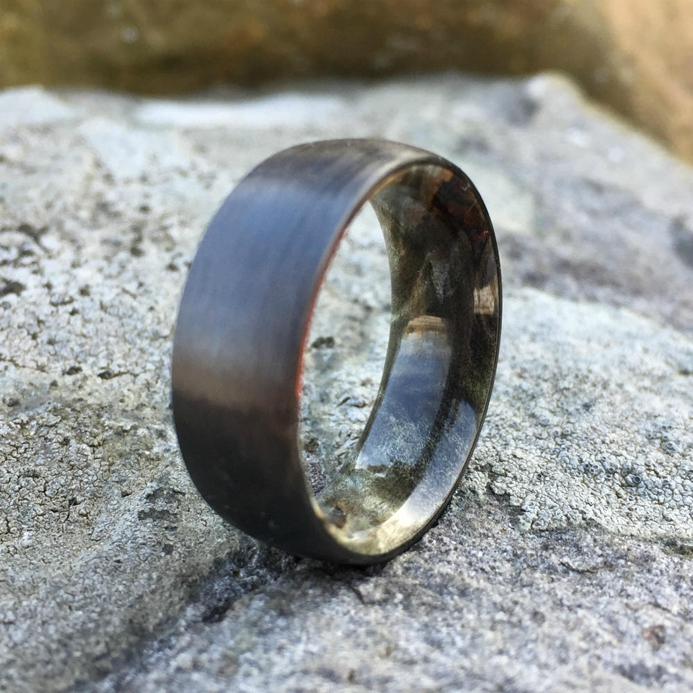 Carbon Fiber Ring, Wood Ring, Wood Inlay Ring, Engagement Ring, Wedding Ring, Wood Wedding Band, Mens Ring, Womens Ring, Buckeye Burl Ring