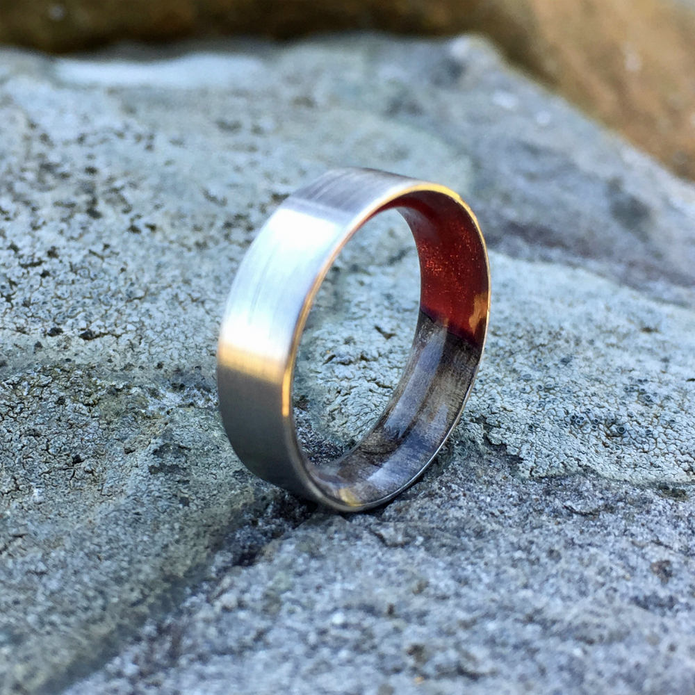 Titanium Ring, Wood Ring, Resin Ring, Mens Ring, Wood Wedding Band, Womens Ring, Custom Ring, Wood Engagement Ring, Buckey Burl Wood Ring