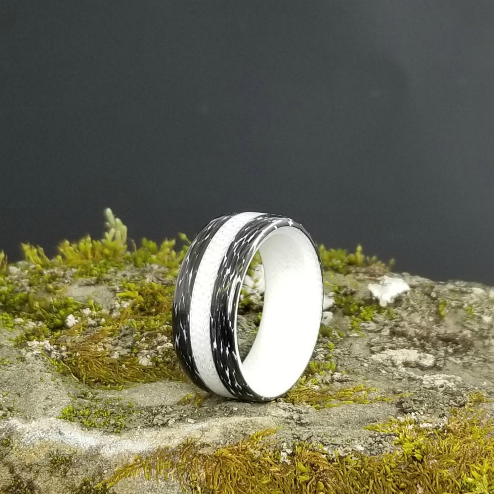 CARBON FIBER & G10 WEDDING RING - A HIGH TECH, MODERN MENS WEDDING BAND