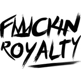 Fuckin Royalty (white text) Ladies' short sleeve t-shirt